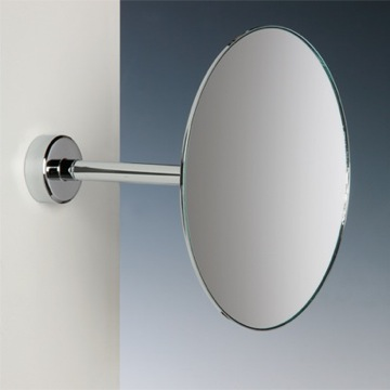 Makeup Mirror Wall Mounted One Face Brass 3x or 5x Magnifying Mirror 99061 Windisch 99061