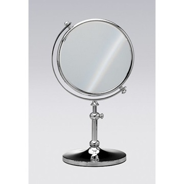 Free Standing Brass Mirror With 3x Magnification