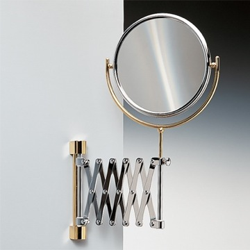 Makeup Mirror Wall Mounted Brass Extendable Double Face 3x or 5xop Magnifying Mirror 99148D Windisch 99148D