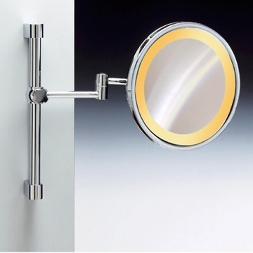 Wall Mounted Chrome or Gold Round Lighted 3x or 5x Magnifying Mirror