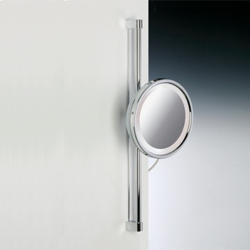 Chrome or Gold Round Wall Mounted 3x or 5x Magnifying Mirror