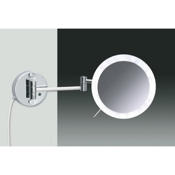 Wall Mounted Chrome or Gold One Face Lighted 3x or 5x Magnifying Mirror