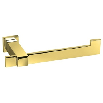 Toilet Paper Holder, Contemporary, Gold, Brass, Windisch Square, Windisch 85210O