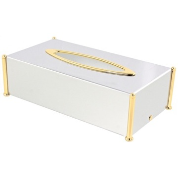 Rectangle Brass Tissue Box Cover