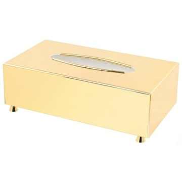 Tissue Box Cover, Contemporary, Gold, Brass, Windisch Conica, Windisch 87111D
