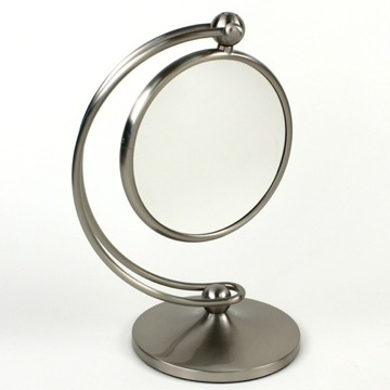 Contemporary Brass Magnifying Mirror