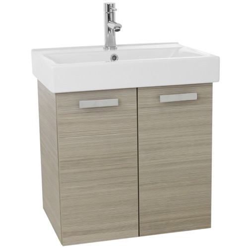 24 Inch Larch Canapa Wall Mount Bathroom Vanity with Fitted Ceramic Sink