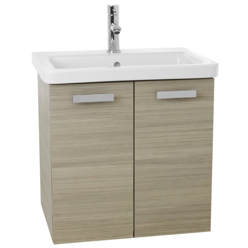 24 Inch Larch Canapa Wall Mount Vanity with Fitted Ceramic Sink