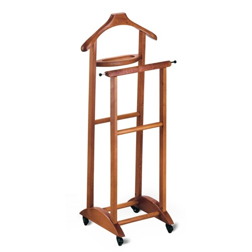 Valet Stand, Aris 272C, Cherry Beech Wood Valet Stand with Tray 272C