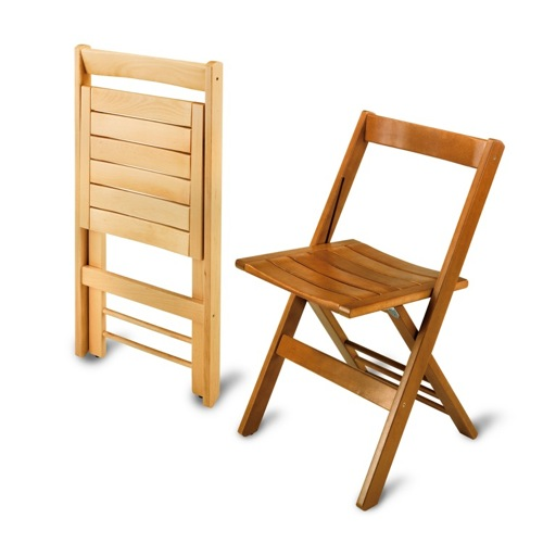 This Ladder Back Wood Folding Chair With Vinyl Seat Is Stylish And Sturdy,  You May Not Want To Put It In... More Woodcrest COSCO WOOD VINYL COMMERCIAL  ...