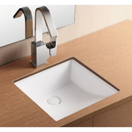 sink caracalla ca4068 square white ceramic undermount bathroom sink