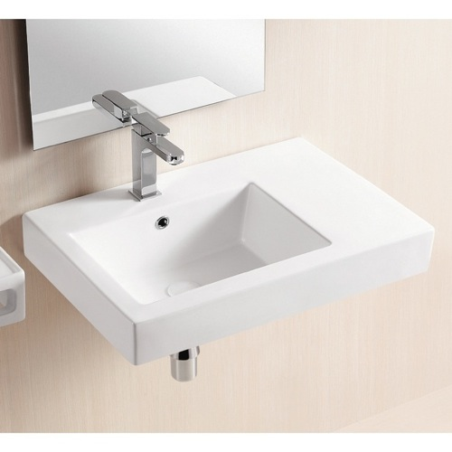 Wall Mounted Rectangular Sink : ... Rectangular White Ceramic Wall Mounted Or Vessel Bathroom Sink CA441A