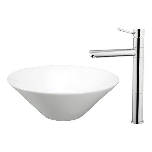 Ceramic Bathroom Sink and Faucet Combo