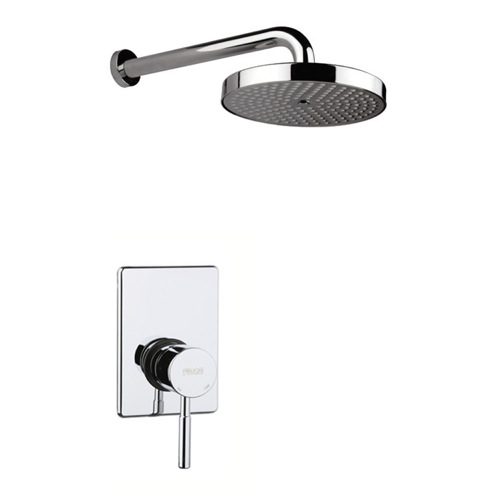 Shower Kit, Fiore 44CR5181, Built-In Polished Chrome Shower Mixer With Shower Arm And Shower Head 44CR5181