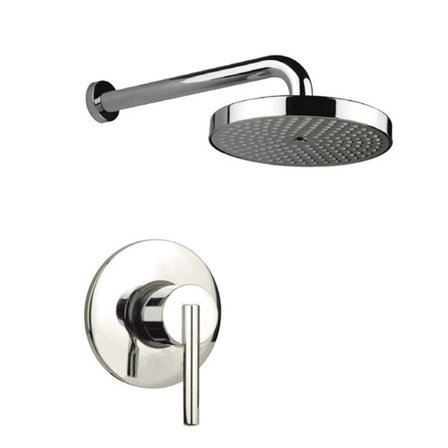 Bath-Shower Mixer, Fiore 70CR7181, Built-In Polished Chrome Shower Mixer With Shower Arm And Shower Head 70CR7181