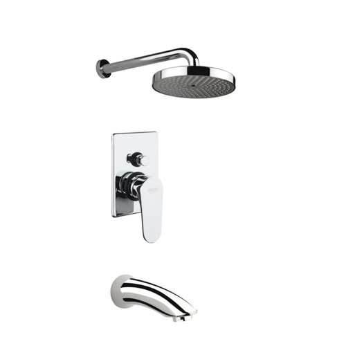Bathtub and Shower Faucet, Fiore 75CR6518, Built-In Polished Chrome Shower Mixer With Diverter 75CR6518