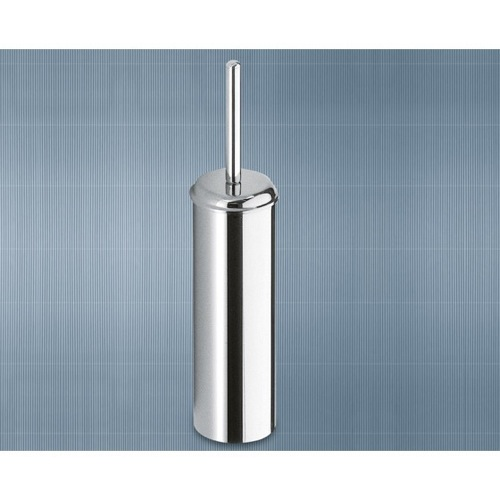 Wall Mounted Round Chrome Toilet Brush Holder