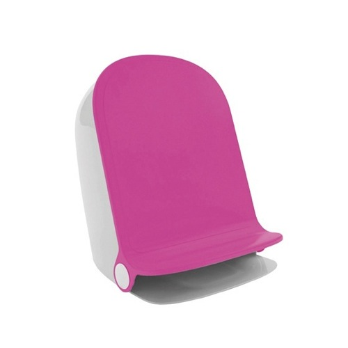 Waste Basket, Gedy 3109-46, Pink Round Waste Bin With Pedal 3109-46