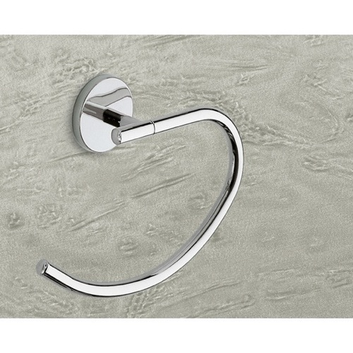 Curved Polished Chrome Towel Ring