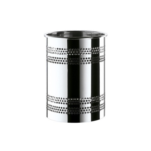 Round Polished Chrome Waste Bin