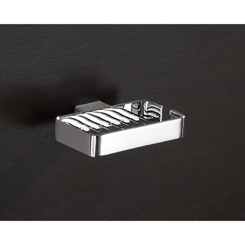 Wall Mounted Square Chrome Wire Soap Holder