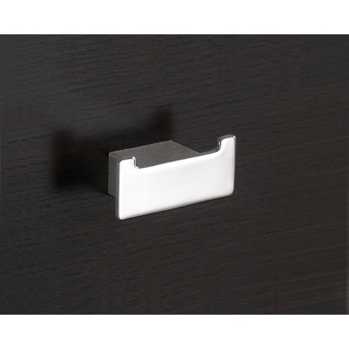 Square Polished Chrome Double Hook