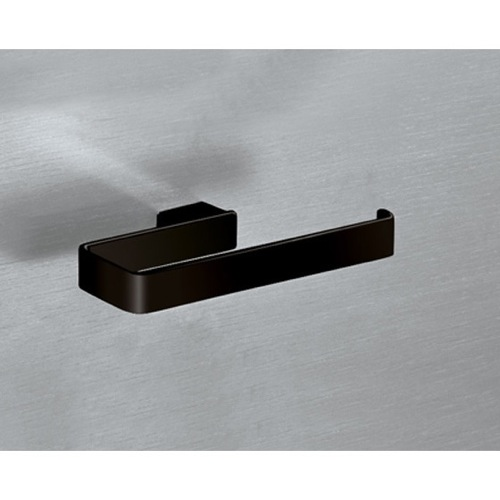 Square Matte Black Towel Ring