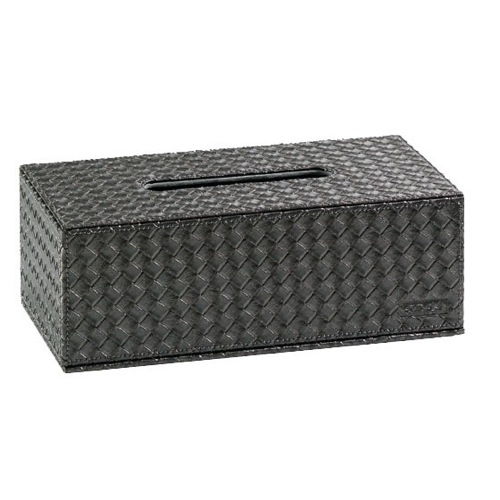 Rectangle Faux Leather Tissue Box Cover