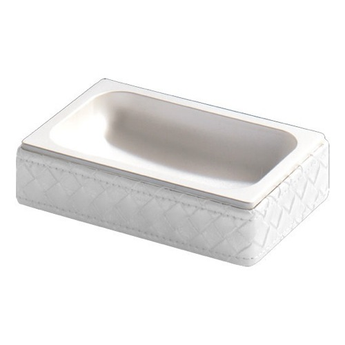 Rectangle Faux Leather Soap Dish