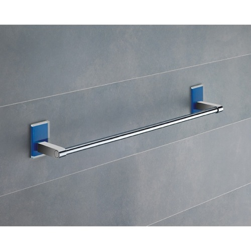 18 Inch Blue Mounting Polished Chrome Towel Bar