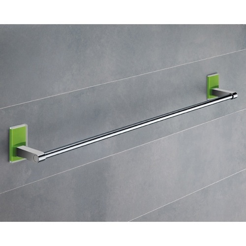 24 Inch Green Mounting Polished Chrome Towel Bar