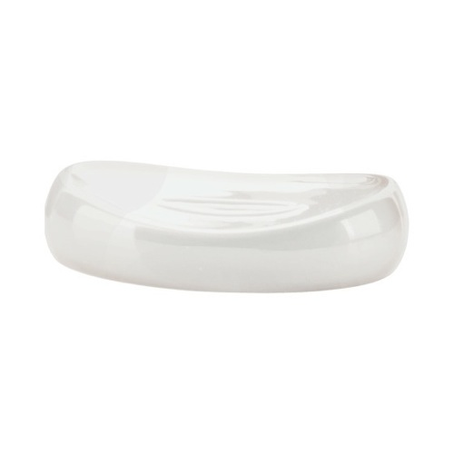 Soap Dish, Gedy AZ11-02, White Assorted Colored Ceramic Pottery Oval Soap Dish AZ11-02