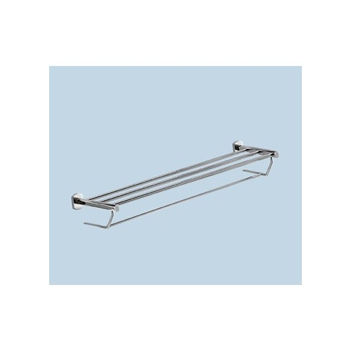 Towel Rack, Gedy ED35-13, Polished Chrome Towel Shelf With Towel Bar ED35-13
