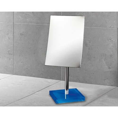 Square Magnifying Mirror with Blue Base