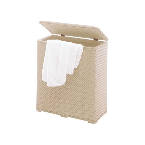 Laundry Basket, Gedy 2038-03, Beige Laundry Basket Made of Thermoplastic Resins 2038-03