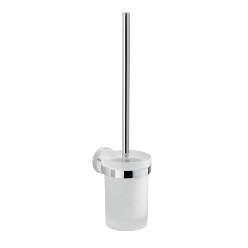 Frosted Glass Wall Mount Toilet Brush Holder