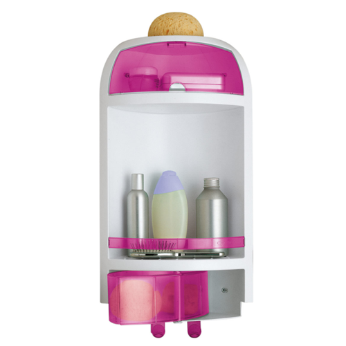 Pink Wall Mounted Corner Shower Caddy