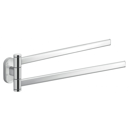 Polished Chrome Dual Swivel Towel Bar