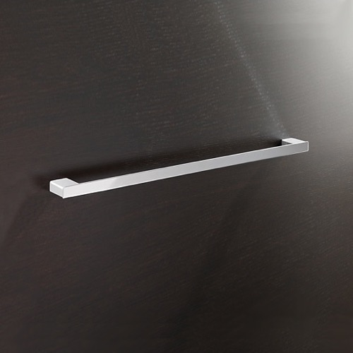 Square 24 Inch Towel Bar In Polished Chrome