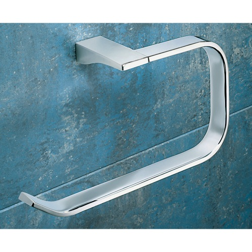 Square Polished Chrome Towel Ring