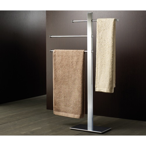 Square Chromed Brass Towel Stand