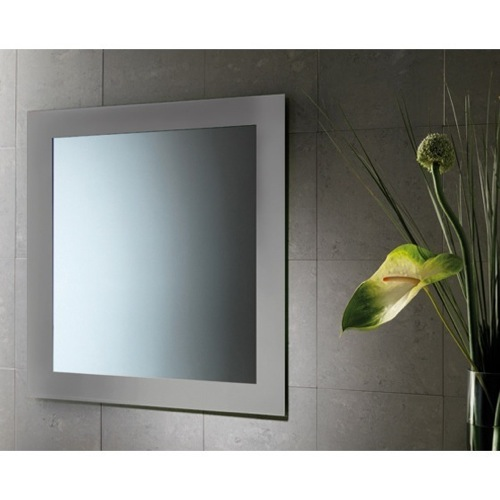 24 x 28 Inch Vanity Mirror With Silver Lacquered Frame