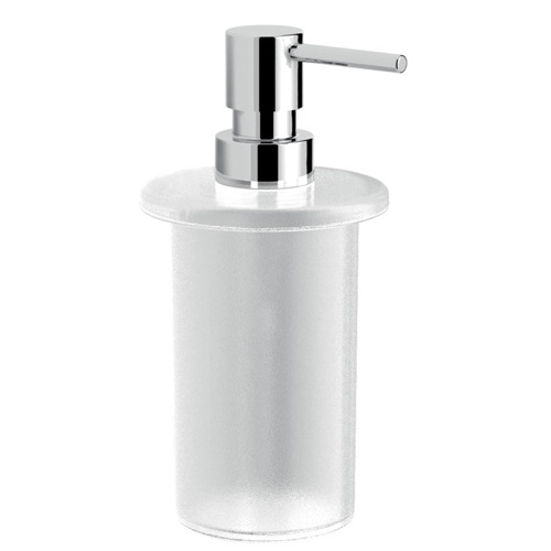 Frosted Glass Soap Dispoenser With Chrome Pump