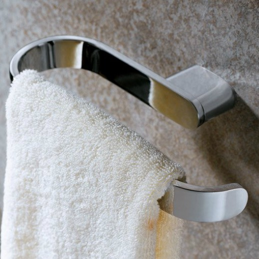 Elegant Polished Chrome Towel Ring