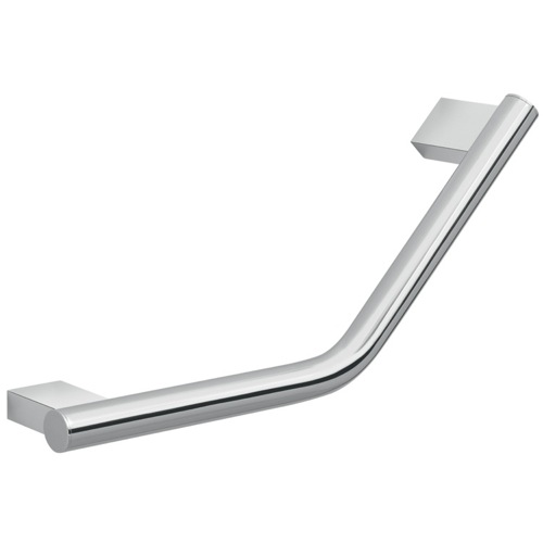 Decorative Round Chrome 13 Inch Wall Mounted Angled Grab Bar