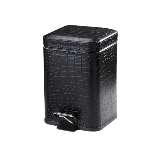 Crocodile Waste Basket Made From Faux Leather Available in Three Finishes