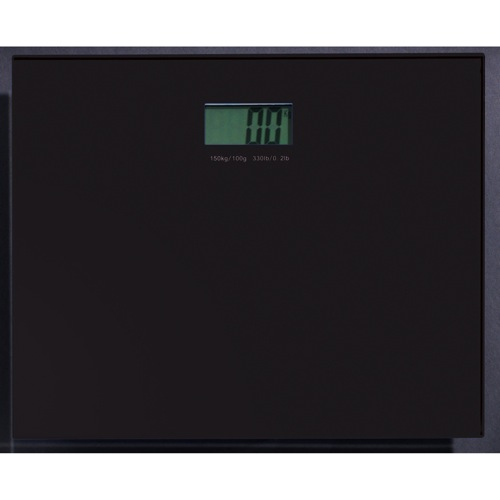 Square Black Electronic Bathroom Scale