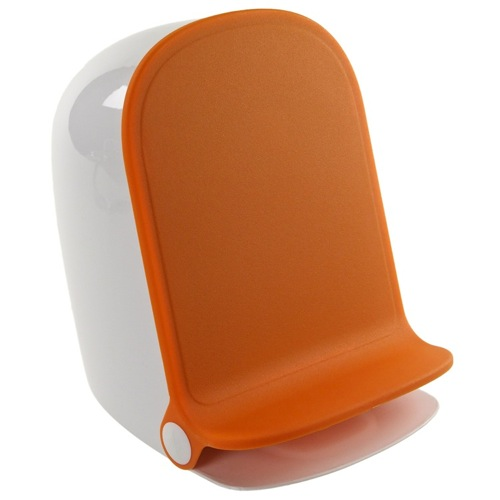 Orange Round Waste Bin With Pedal