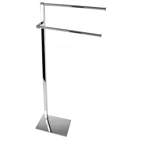 Chrome Towel Stand with Colorful Thermoplastic Resin Base