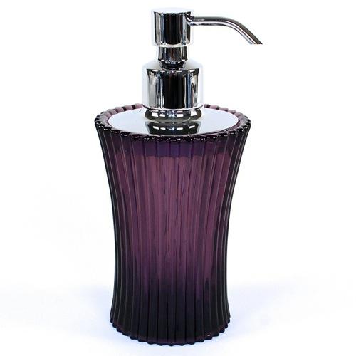 Purple Crackle Soap Dispenser